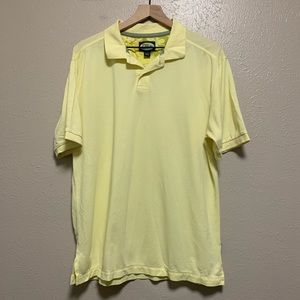 Tommy Bahama men's yellow relaxed polo shirt